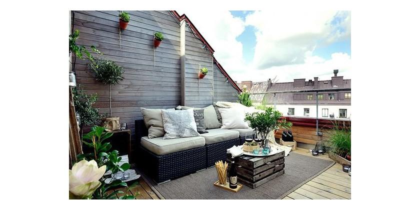 Ideas y consejos para aprovechar tu terraza usando muebles for Muebles de terraza y jardin baratos
