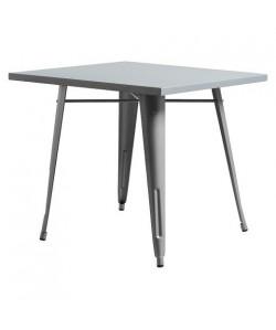 Mesa TOL, acero, gris plata, 80x80 cms