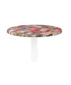 Tablero de mesa Werzalit Alemania, BABYLON 213, 60 cms de diámetro*.