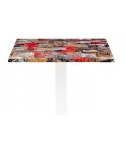 Tablero de mesa Werzalit Alemania, BABYLON 213, 70 x 70 cms*