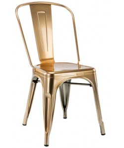 Silla TOL, acero, brillo, gold edition
