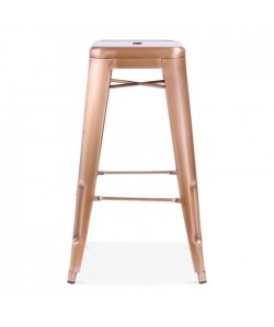 Taburete TOL, acero, brillo, rose gold edition