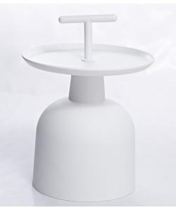 Mesa MAX, baja, polipropileno blanco
