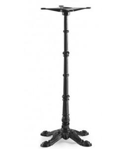 Base de mesa ELISEO, alta, fundición, negra, altura 108 cms