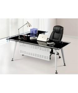 Mesa DOHA, mueble a derecha, cristal, 180x85 cms