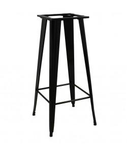 Base de mesa TOL, alta, negra, para tapa de 60x60 cms