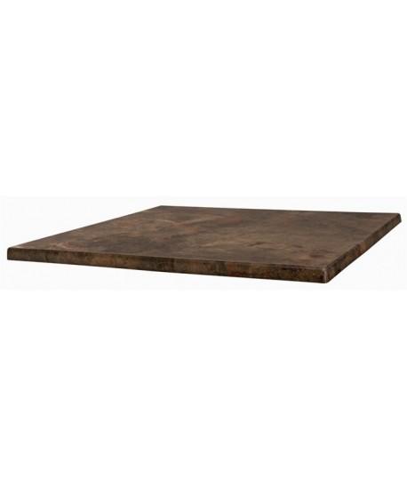 Tablero de mesa Werzalit-Sm, MARRÓN OXIDO 223, 60 x 60 cms*
