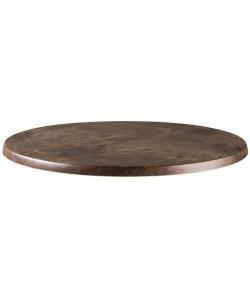 Tablero de mesa Werzalit Alemania, MARRÓN ÓXIDO 223, 70 cms de diámetro*.