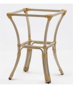 Base de mesa ACAPULCO, aluminio, 4 pies, acabado bambú beige