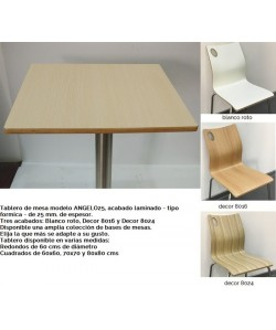 Tablero de mesa ANGELO, decor 8016, 60 cms de diámetro*