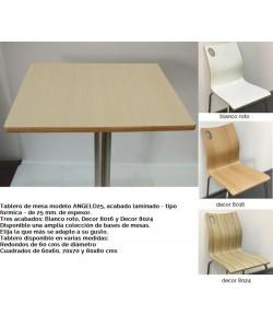 Tablero de mesa ANGELO, blanco roto, 70 x 70 cms
