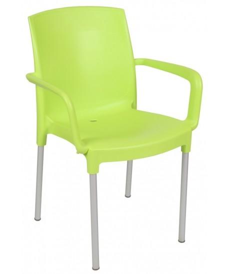 Sillón CLARIN, aluminio, polipropileno verde lima