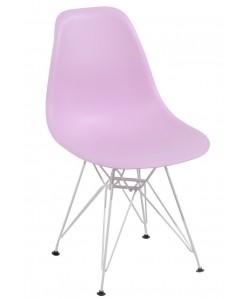 Silla TOWER, blanca, polipropileno rosa claro