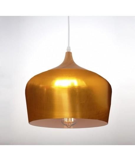 Lámpara CROCK, colgante, metal, pantalla dorada Mobidecora