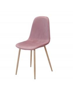 Silla EPOQUE, metal, terciopelo rosa