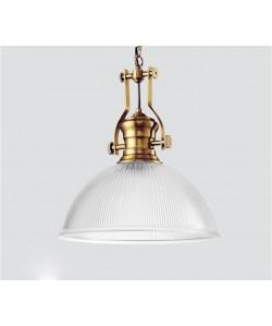 Lámpara NOÉ, colgante, metal, cristal
