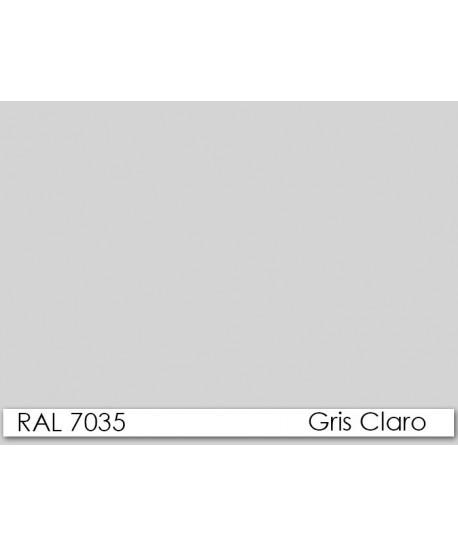 Armario OTELO, metálico, puertas abatibles, gris claro, 90x40x185 cms