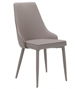 Silla ISSABEL, metal, similpiel color capuchino