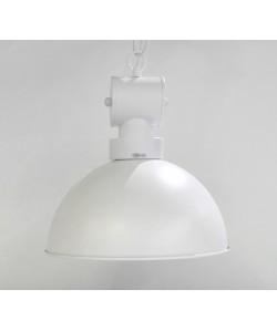 Lámpara DESVÁN, colgante, metal, pantalla blanca mate
