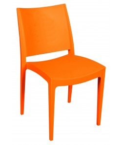 Silla BEYBE, apilable,  polipropileno naranja