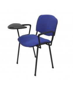 Silla NIZA NEW AM, brazos y pala, chasis negro, tapizado azul