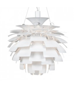 Lámpara ARTIC, aluminio, blanca, 60 cms. de diámetro