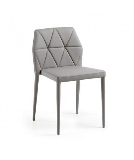 Silla LARBI, tapizada gris