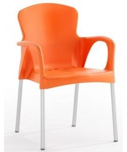 Sillón SENA, Apilable polipropileno naranja*