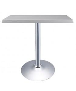 Mesa CRISS, cromada, Topalit - Silver - 70 x 70 cms*