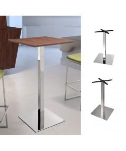 Mesa RHIN, alta, acero inoxidable, tapa de 70 x 70 cms. color a elegir