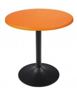 Mesa CRISS, negra, tapa de 70 cms. Color a elegir