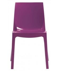 Silla ANTARTIDA polipropileno, púrpura alto brillo
