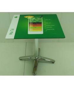 Mesa ROMA, aluminio, smartline, 70 x 70 cms. diseño a elegir