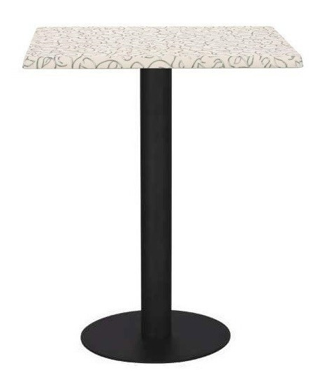 Mesa LOIRA, negra, tapa de 70 x 70 cms. Color a elegir