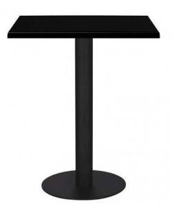 Mesa LOIRA, negra, tapa de 60 x 60 cms. Color a elegir