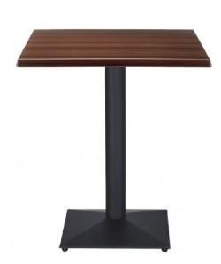 Mesa DANUBIO, negra, tapa de 60 x 60 cms. Color a elegir