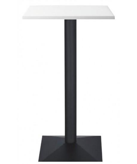 Mesa DANUBIO, alta, negra, tapa de 60 x 60 cms. Color a elegir