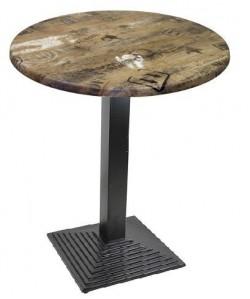 Mesa ELBA, negra, tapa de 70 cms. Color a elegir