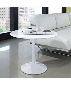 Mesa TUL, baja, aluminio, lacada blanca, 60 cms