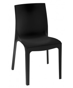 Silla EMY, Apilable, polipropileno negro