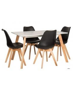 Mesa GADES, madera, tapa lacada blanca de 120 x 80 cms