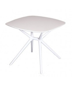 Mesa PARTY polipropileno blanco, tapa de 80 x 80 cms