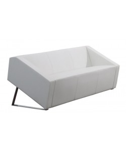 Sofá OLIVER, 3 plazas, similpiel blanca