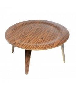 Mesa AME, baja, madera curvada, fresno