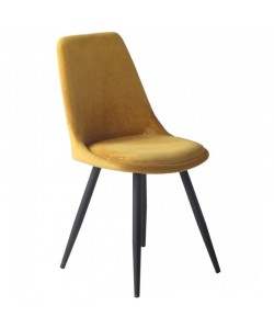 Silla OLD BLACK, metal, terciopelo amarillo