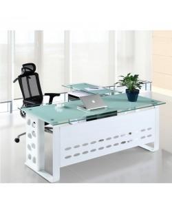 Mesa CHIASSO, mueble a izquierda, cristal, 160x80 cms