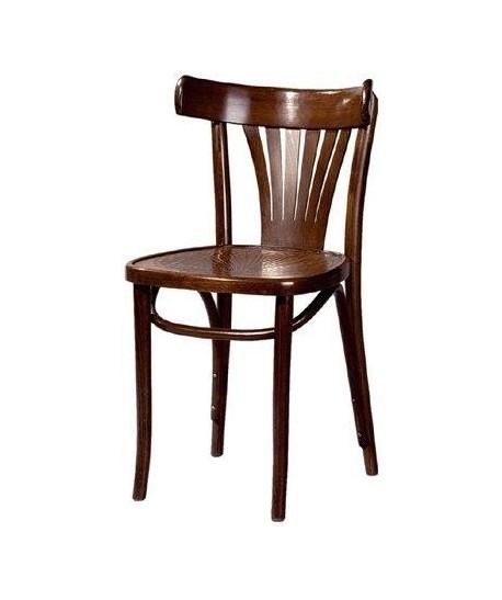 Silla de madera de haya COSINO, asiento madera barnizada.