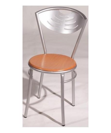 Silla de hostelería MENSIS, color a elegir, asiento madera.