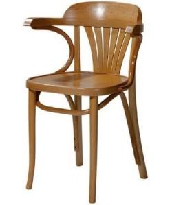 Sillón de madera de haya COSINO, asiento madera barnizado.