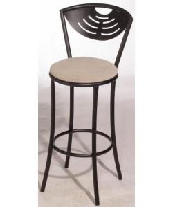 Taburete MENSIS, color a elegir, asiento tapizado.